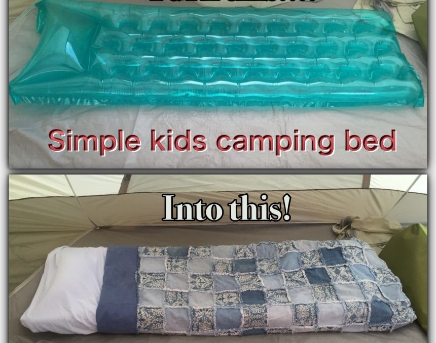 camping with kids easy camping bed