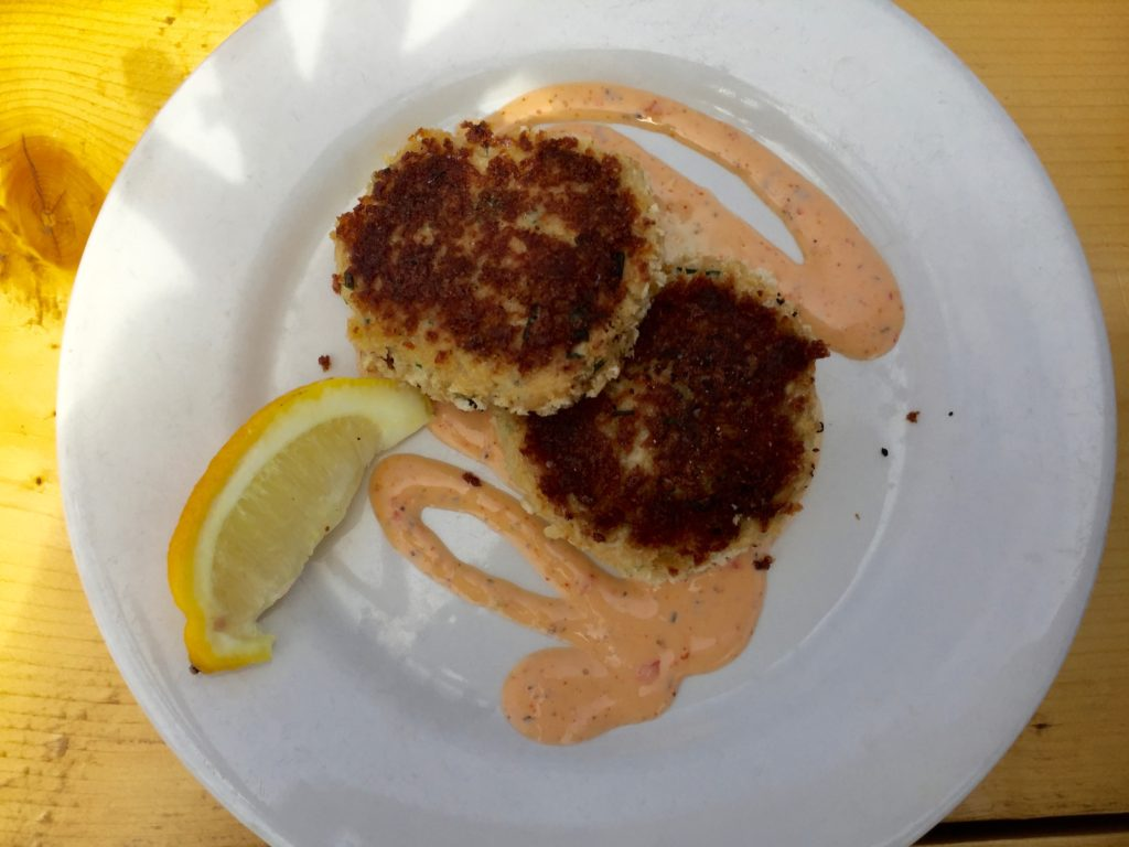 crab cakes the fish house Bar harbor