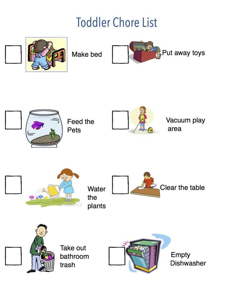 toddler chore list