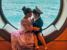 kids on a disney cruise ship