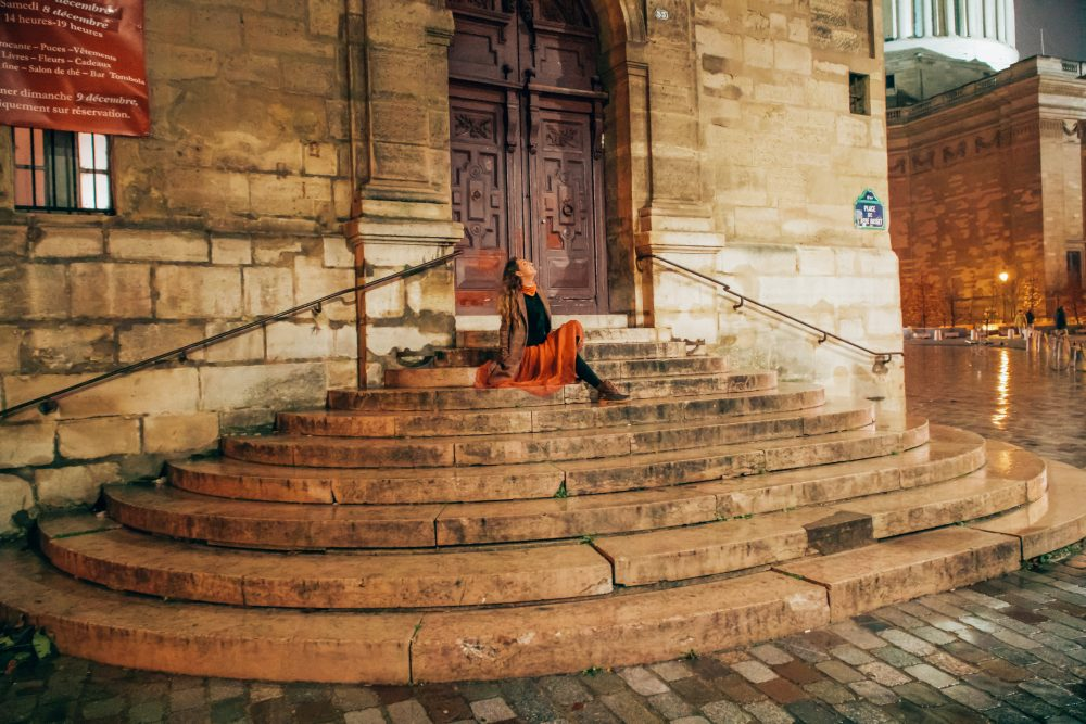 St Etienne du Mont step in Paris