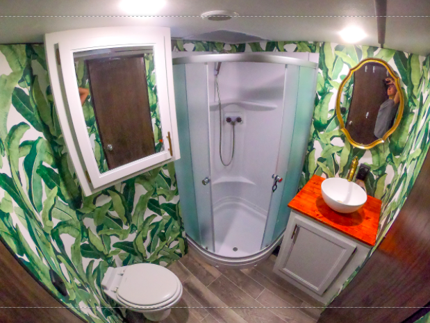 RV bathroom renovation upgrade ideas