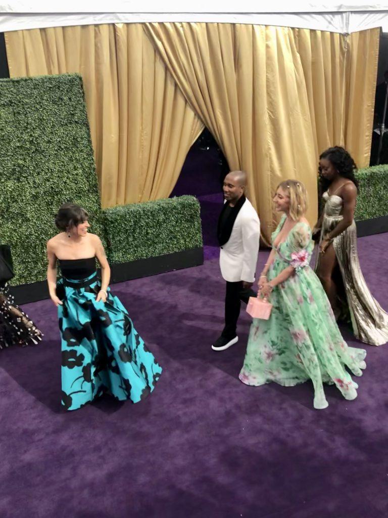 Mellisa Villa Señor Emmys Red Carpet with Heidi Gartner and Christ Redd