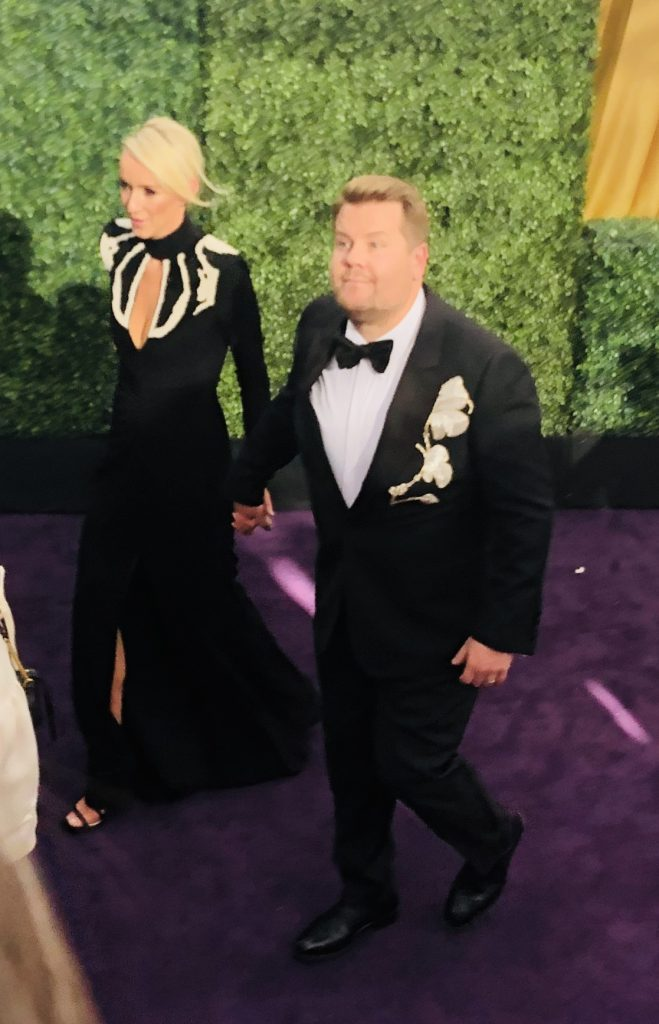 James Corden Emmys REd Carpet