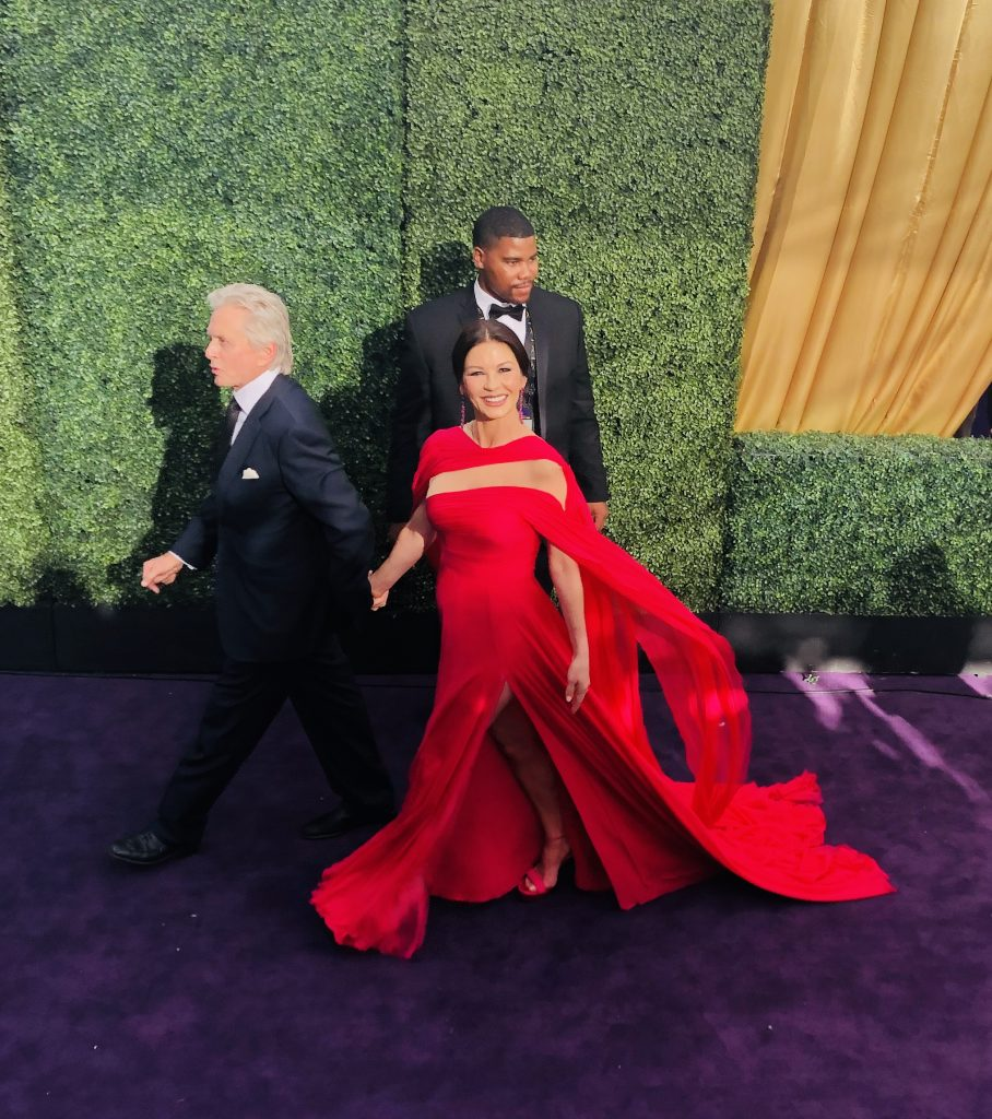 michael douglas and catherine zeta jones emmys red carpet