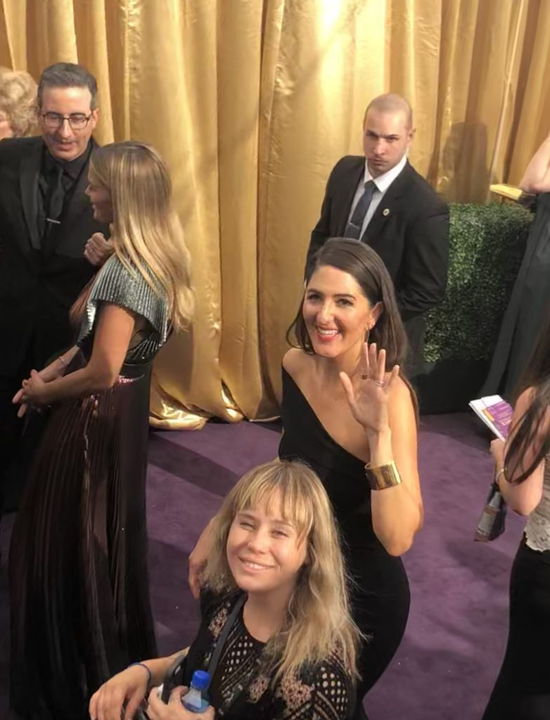 darcy carden emmys red carpet