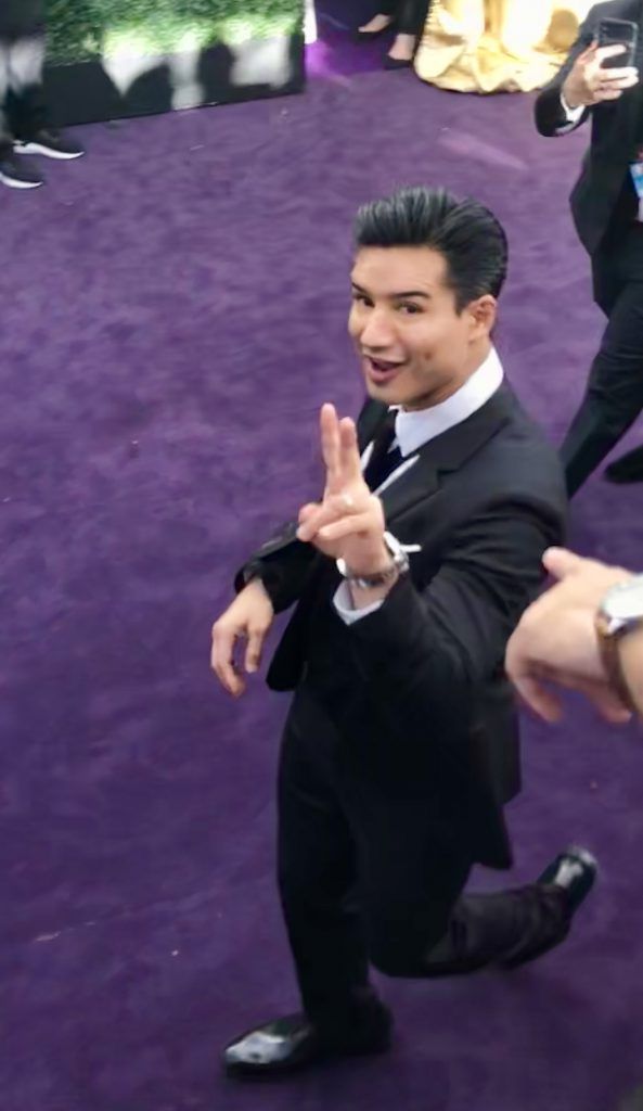 Mario Lopez emmys red carpet