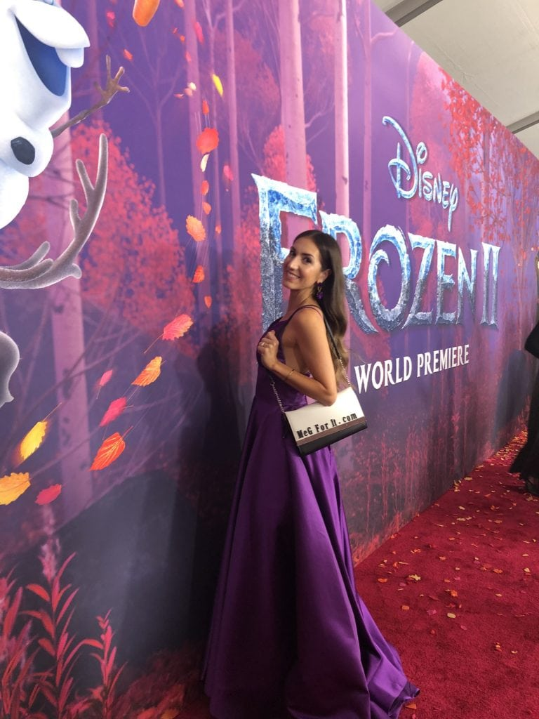 Meg Harrell megforit.com at the Frozen 2 premiere red carpet at the Dolby Theater