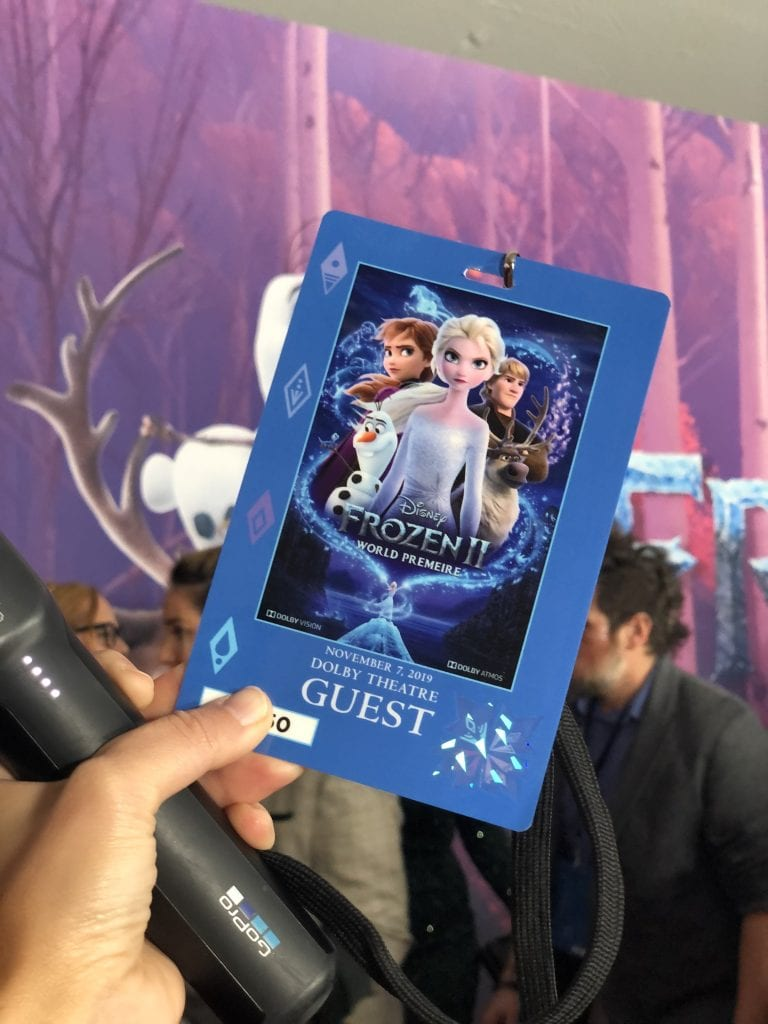 Frozen 2 premiere in the Dolby theater with megforit Meg Harr