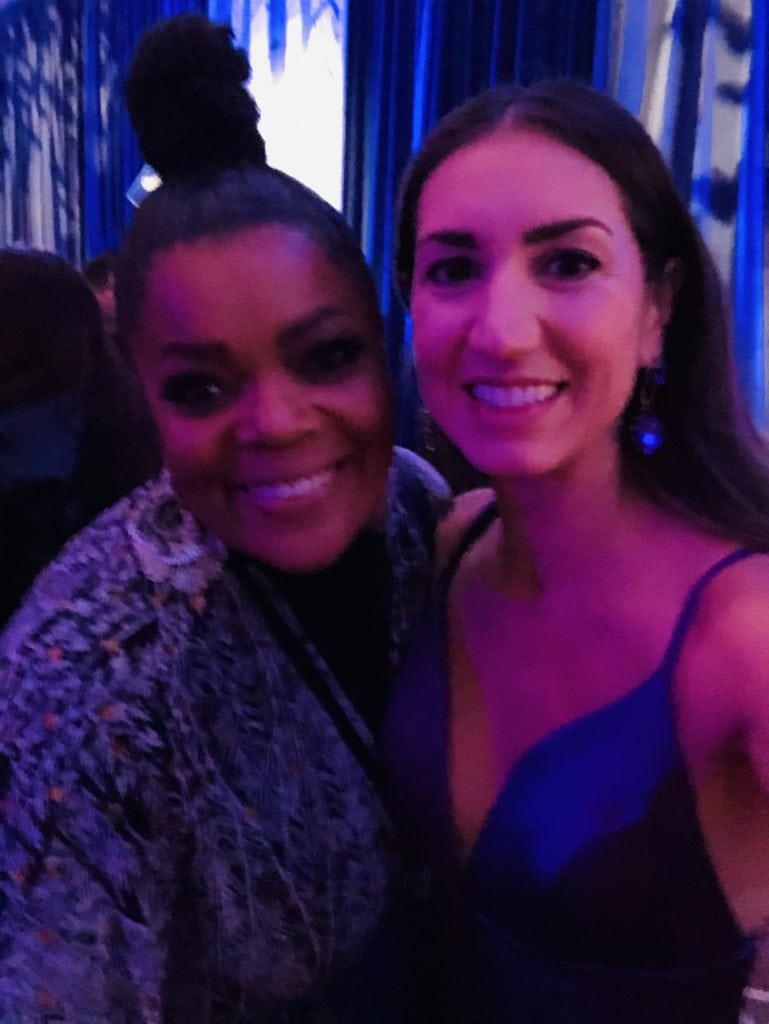 Yvette Nicole Brown at the Frozen 2 premiere in the Dolby theater with megforit Meg Harrell