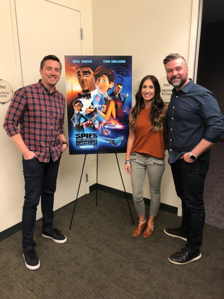 Nick Bruno and Troy Quane Directors of Spies in Disguise with megforit.com Meg Harrell