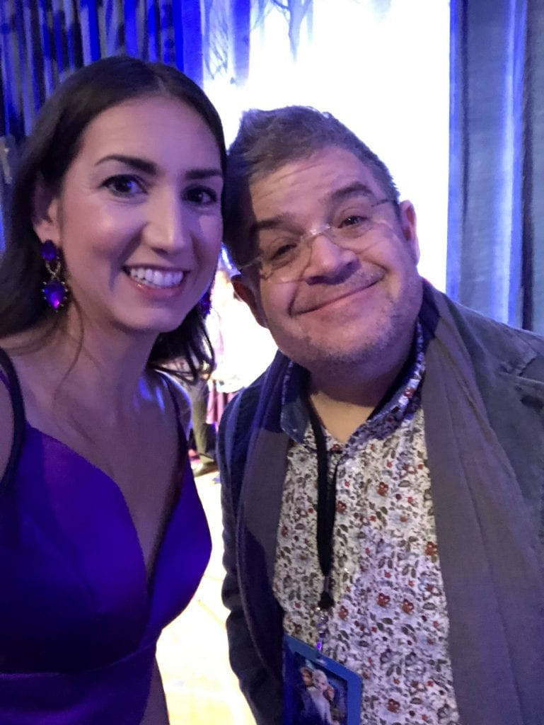 Patton Oswalt at the Frozen 2 premiere in the Dolby theater with megforit Meg Harr
