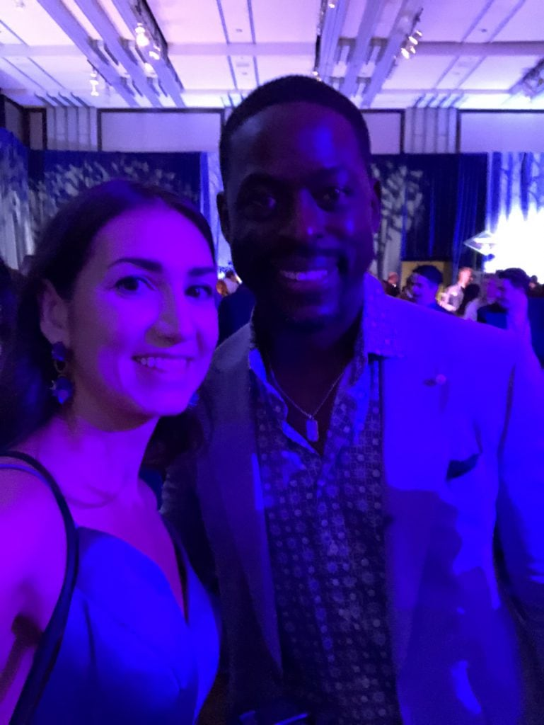 Sterling Brown at the Frozen 2 premiere in the Dolby theater with megforit Meg Harrell