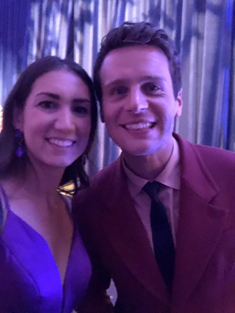 Jonathan Groff at the Frozen 2 premiere in the Dolby theater with megforit Meg Harr